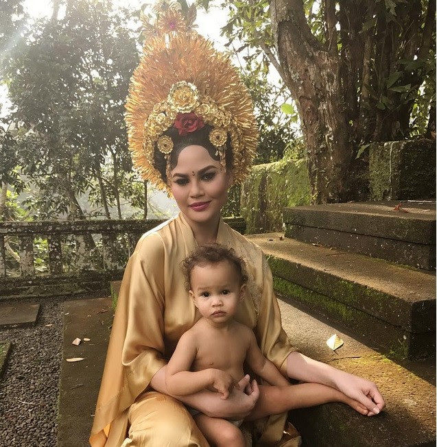 Image result for Chrissy Teigen Bali Photo