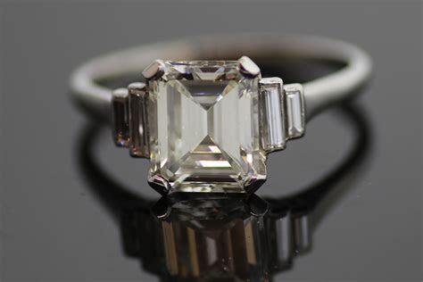 Emerald Cut Engagement Ring Vintage   OneWed.com
