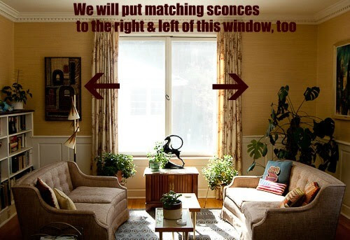 Wall sconces and how to place them around a fireplace? - Retro ...