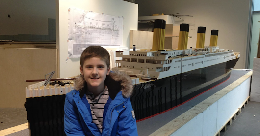 Autistic boy overcomes obstacles to build largest Lego replica of the Titanic - CBS News