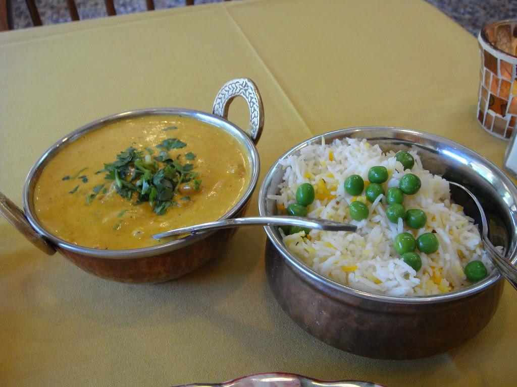Malai Kofta and rice