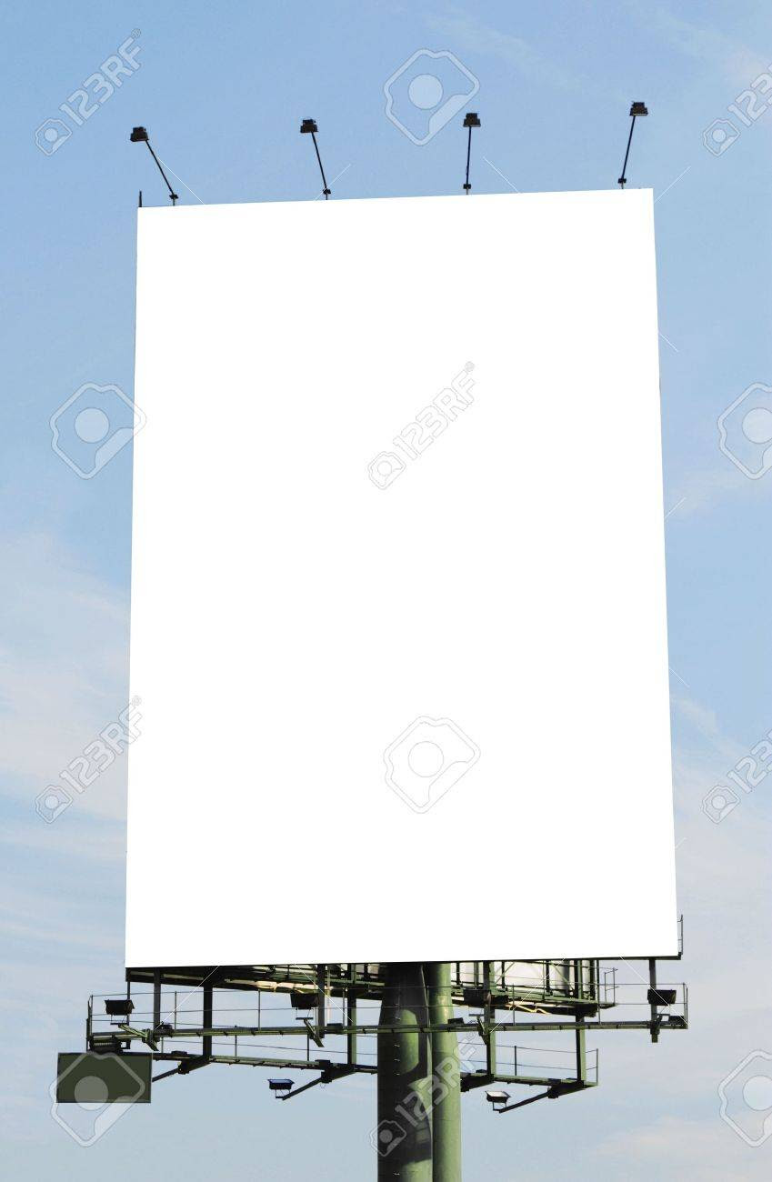 A Vertical Blank Billboard Stock Photo, Picture And Royalty Free ...