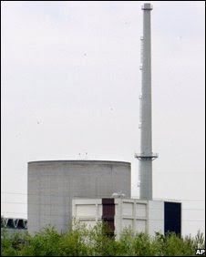 Italian nuclear power plant near Vercelli, northern Italy