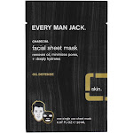 Every Man Jack Charcoal Oil Defense Facial Sheet Mask 0.67 fl oz