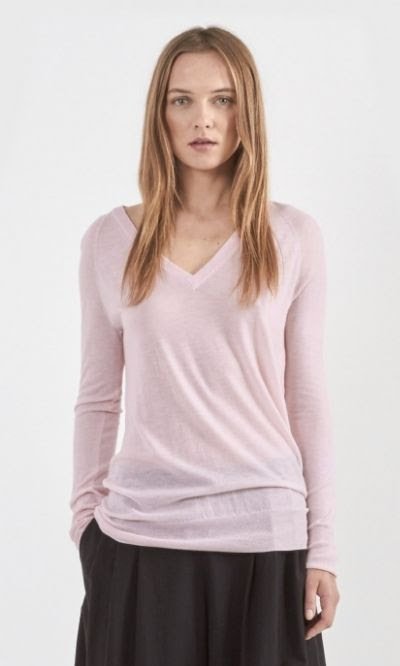 Equipment Asher Cashmere V-Neck in Rose