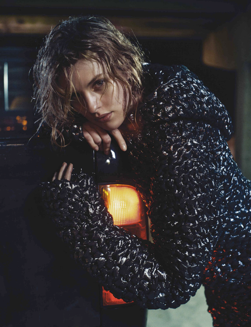EXIT MAGAZINE SUMMER EDITORIAL WOVEN METALLIC HOODIE