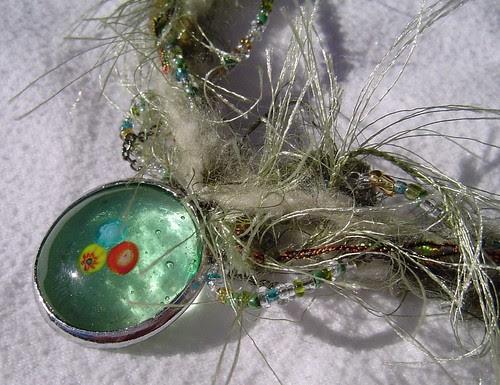 fibre necklace detail