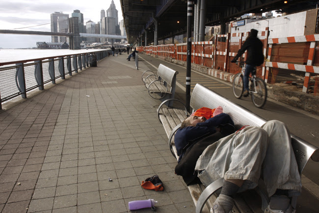 Asleep along the East River