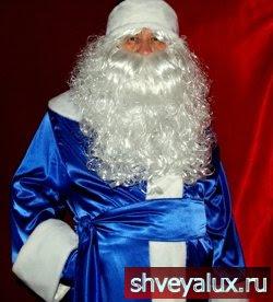 Костюм Деда Мороза - прочная, шёлковая, блестящая, переливчатая ткань, обработанная средне ворсовым мехом из Европы.
