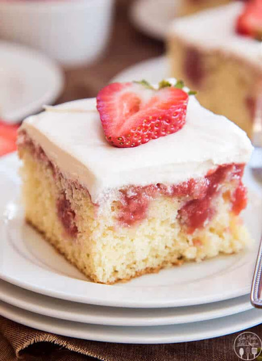 Strawberries and Cream Poke Cake - The Best Blog Recipes