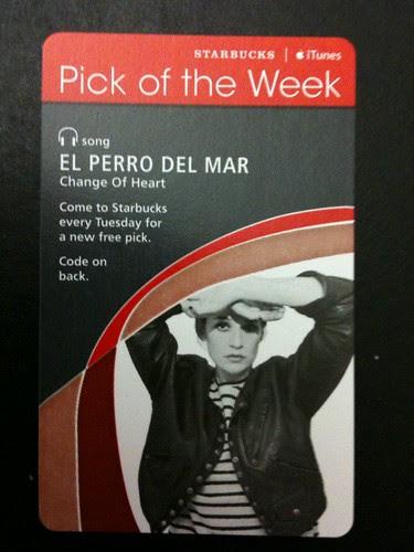Starbucks iTunes Pick of the Week - El Perro Del Mar - Change of Heart #fb