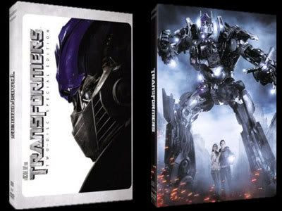 Box cover art for the TRANSFORMERS DVD.