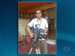 Santiago Andrade, cinegrafista  (Foto: RJTV)