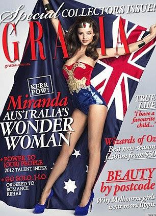 Edição de colecionador: graças Miranda capa deste mês de Grazia Austrália, para fora agora