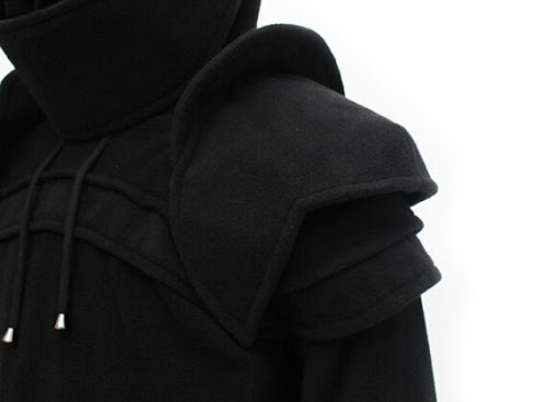 Black Duncan Armored Knight Hoodie100 Handmade Made by iamknight