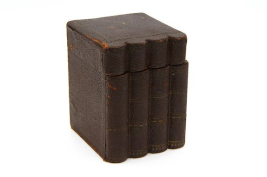 Antique Book Box Faux Book Box Leather On Wood Edwardian