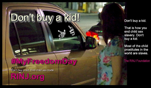 #MyFreedomDay - Don't Buy A Kid - End Child Sex Slavery -