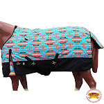 """72"""" Hilason 1200D Poly Waterproof Turnout Winter Horse Blanket Turquoise"""