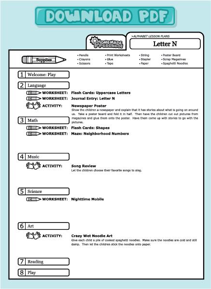 resume format  letter c lesson plans for preschool