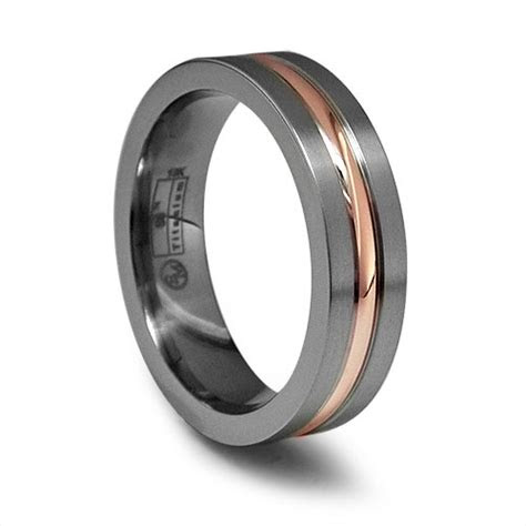 attractive wedding rings titanium  rose gold wedding ring