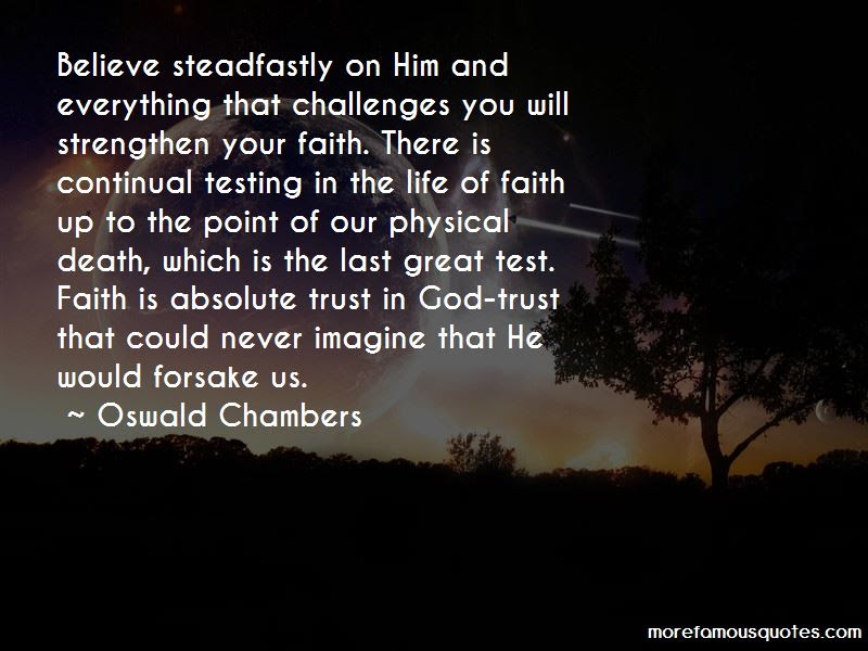 Testing Our Faith Quotes Top 19 Quotes About Testing Our Faith From