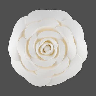 """12"""" Garden Rose White Paper Flower Backdrop Wall Decor, 3D"""