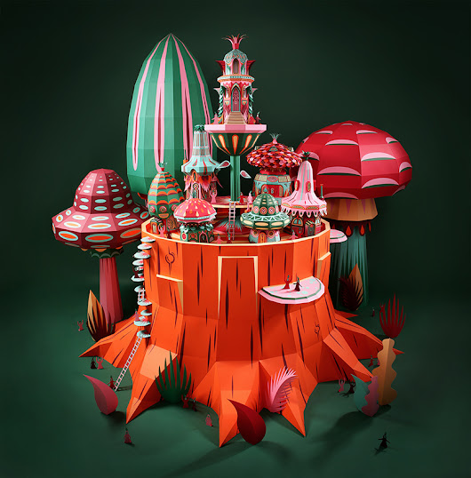 Enchanting and whimsical papercraft buildings