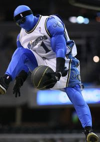 G-Man, the Washington Wizards' odd mascot