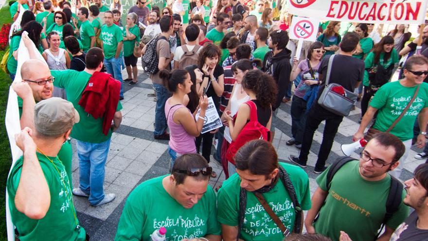 Manifestación por la enseñanaza en Talavera de la Reina