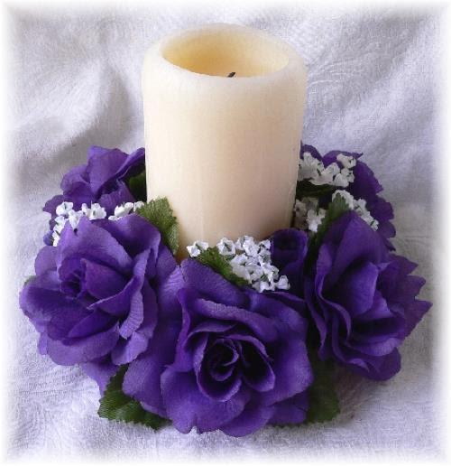 Purple Candle Rings   eBay