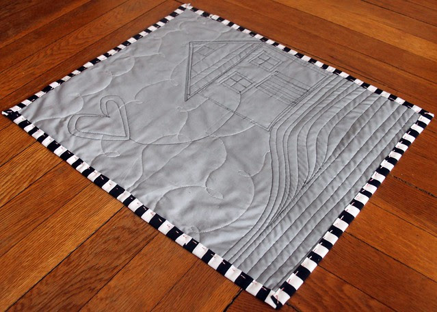 mini quilt back -- gray, black, & white