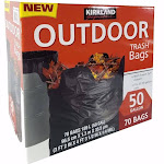 Kirkland Signature Outdoor Trash Bags, 50 gallon - 70 pack