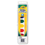 Crayola. 530525 Washable Watercolor Paint 8 Assorted Colors