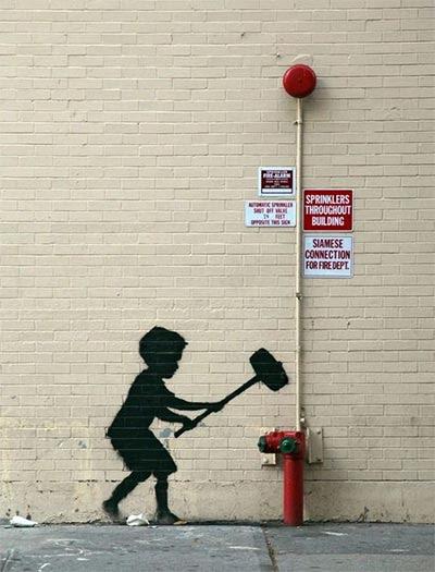 Banksynin 189 Duvar Resmi Grafitisi Ve Sokak Sanatı