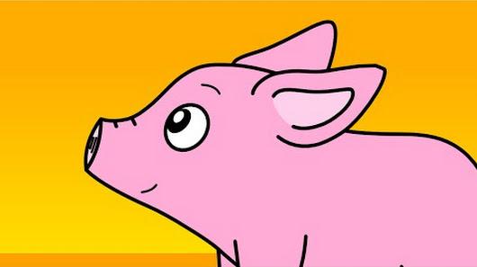Les comptines de gabriel google - Un petit cochon pendu au plafond ...