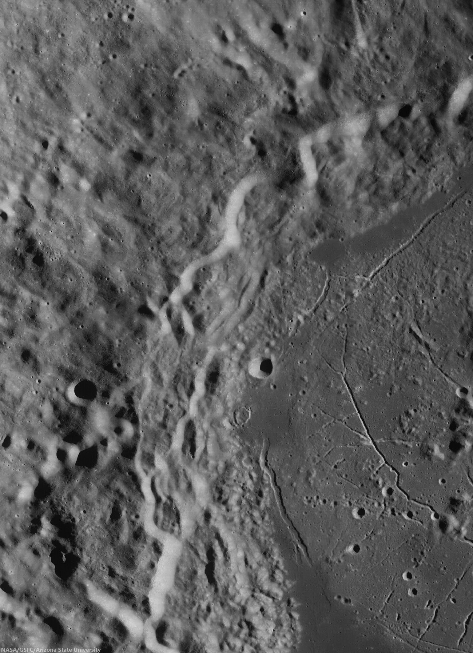 Western Humboldt (Stitch of three LROC WAC passes)