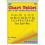 Chart Tablets 24x32 Assorted 1/2 Ruled - Top Notch Teacher