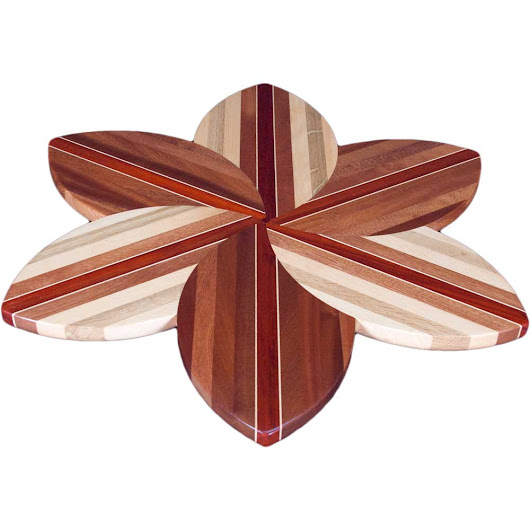 This week's featured product: Sapele and Laminated Wood Flower Lazy Susan