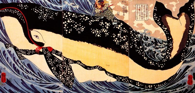 Miyamoti Musashi on a whale