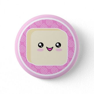 Kawaii Mochi Cake Button Badge button
