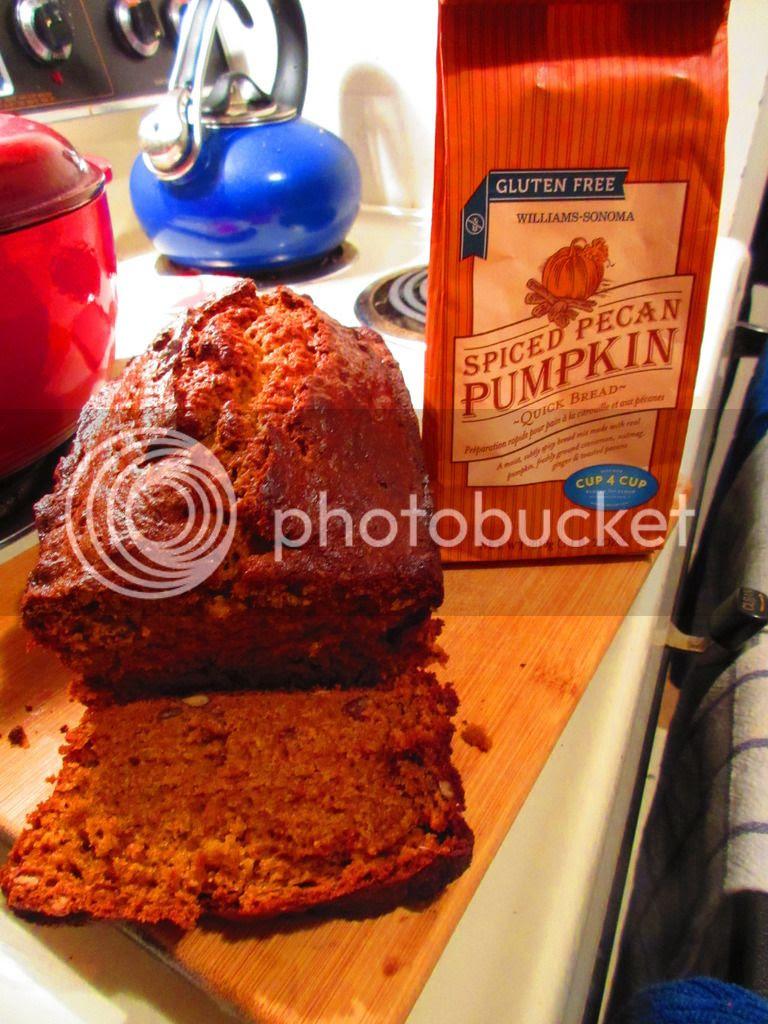Product Review Williams Sonoma Gluten Free Spiced Pecan Pumpkin Quick Bread The Celiathlete