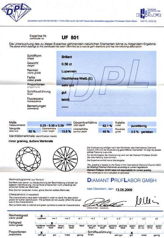 Foto 9, DIAMANT 0,567ct BRILLANT DPL, LUPENREIN RIVER BRILLIANT, D5160