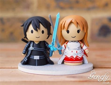 Sword Art Online wedding cake topper by Genefy Playground