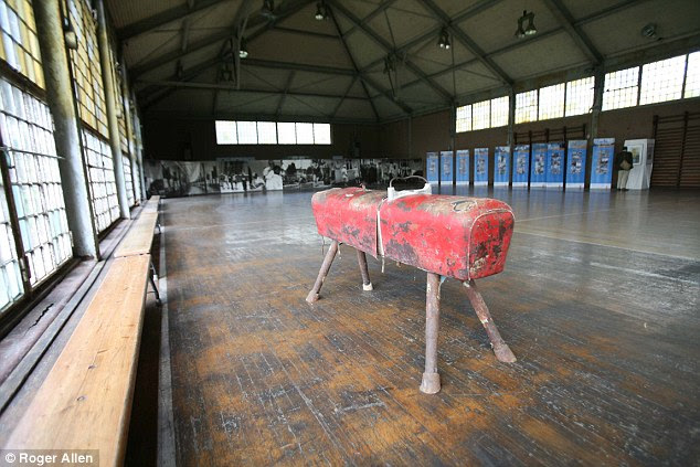 Ghosts: The vaulting horse which became known as 'Alfred's Throne,' after Nazi athlete Alfred Schwarzmann from Bavaria, who won three gold medals and two bronzes for gymnastics