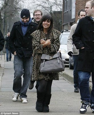 Lily Allen in ugg style boots
