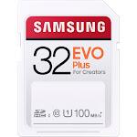 Samsung - EVO Plus SDXC Full size SD Card 32GB (MB-SC32H)