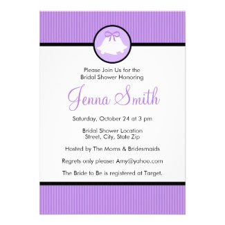 Bridal Shower Invitation | Lavender Wedding Bells