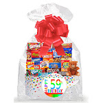 Cakesupplyshop Item#059BSG Happy 59th Birthday Rainbow Thinking of You Cookies, Candy & More Care Package Snack Gift Box Bundle Set - Ships Fast!