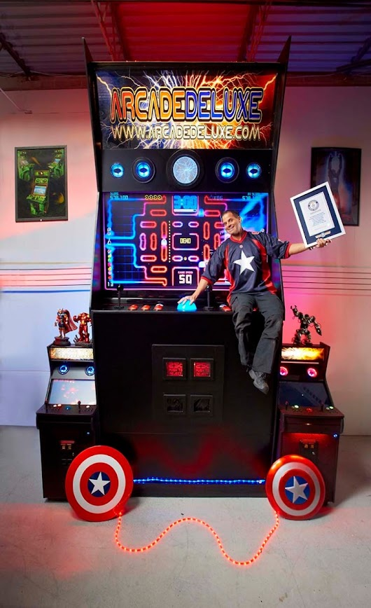 Man Spends Two Years Building the World's Largest Arcade Machine