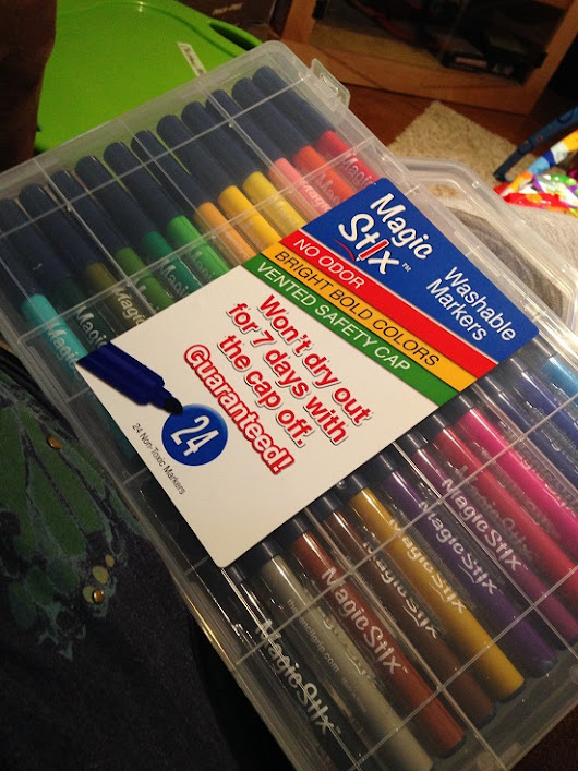 Magic Stix Washable Markers (Art Supplies) {Review}